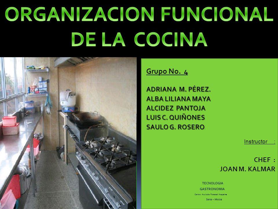 ORGANIZACION FUNCIONAL DE LA COCINA Centro Acuícola Forestal Arapaima