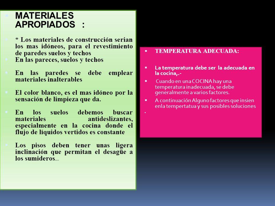 MATERIALES APROPIADOS :