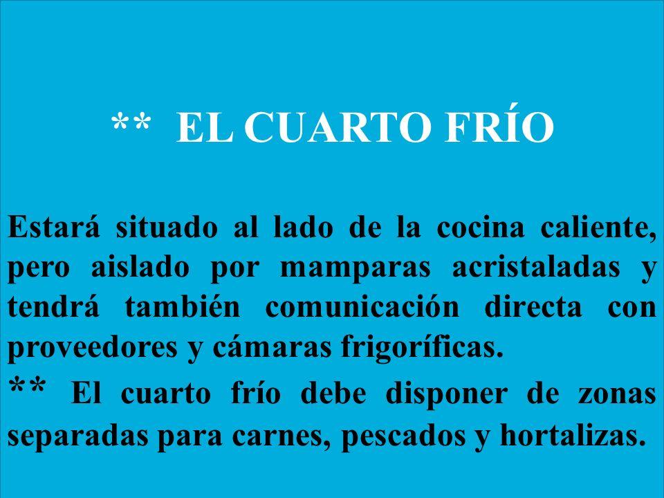 Organizacion funcional de la cocina centro acu cola for Cuarto frio cocina