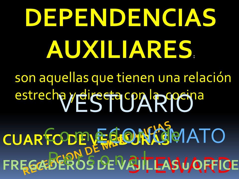DEPENDENCIAS AUXILIARES: