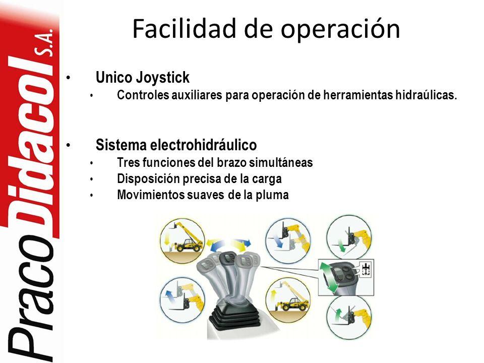 Facilidad de operación