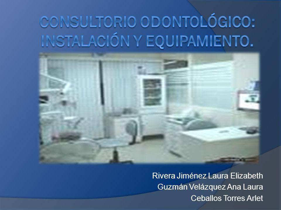Consultorio odontológico: Instalación y equipamiento.
