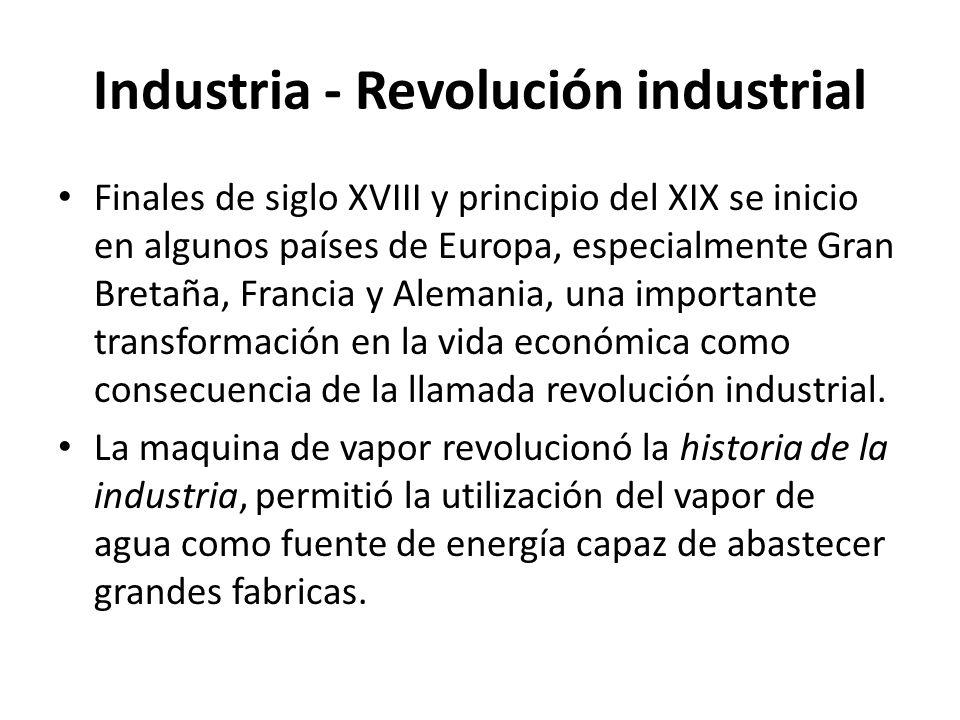 Industria - Revolución industrial