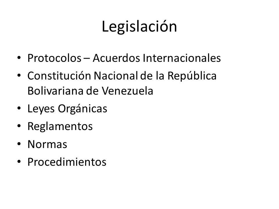 Legislación Protocolos – Acuerdos Internacionales