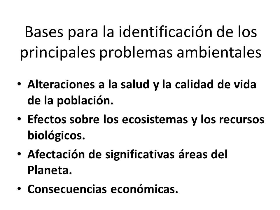 Bases para la identificación de los principales problemas ambientales
