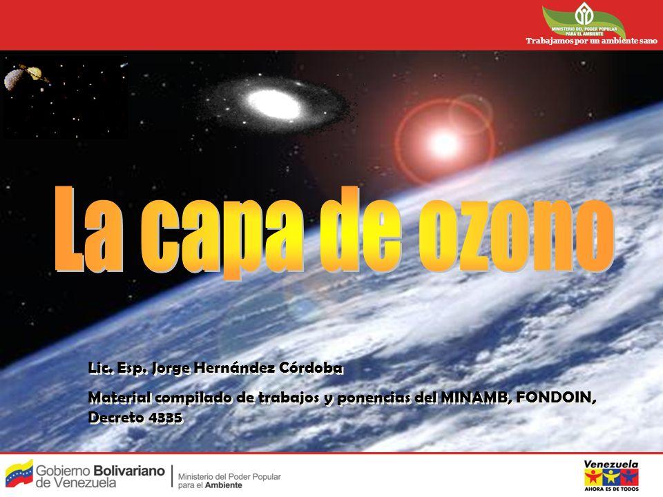 La capa de ozono Lic. Esp. Jorge Hernández Córdoba