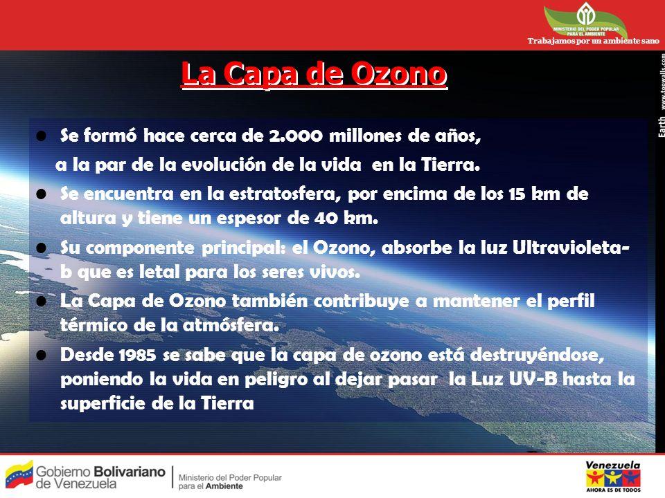 La Capa de Ozono Se formó hace cerca de 2.000 millones de años,