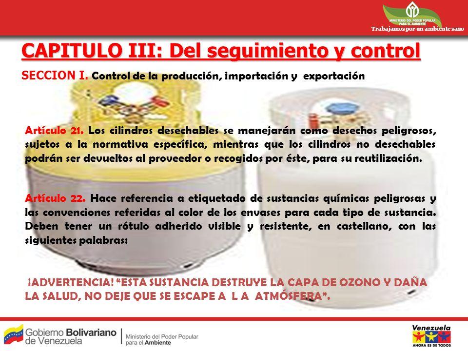 CAPITULO III: Del seguimiento y control