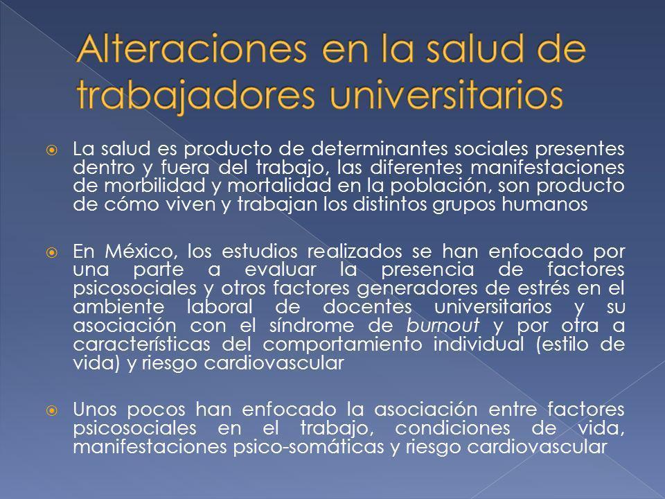 Alteraciones en la salud de trabajadores universitarios