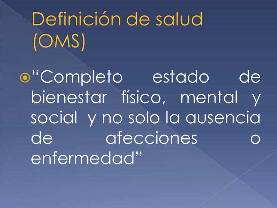 Definición de salud (OMS)