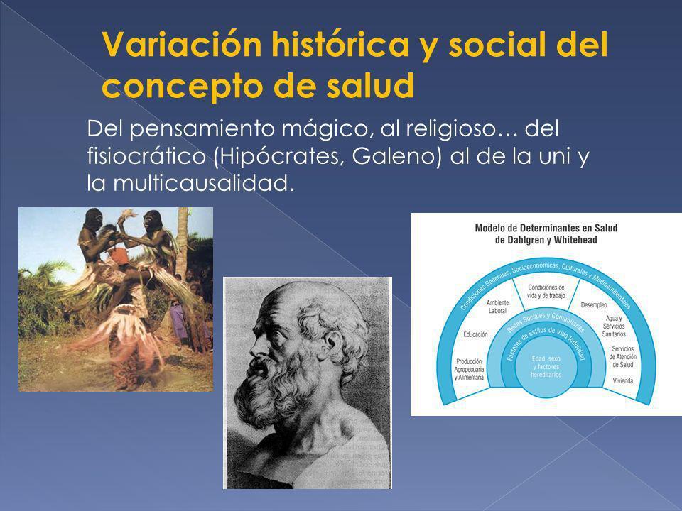 Variación histórica y social del concepto de salud