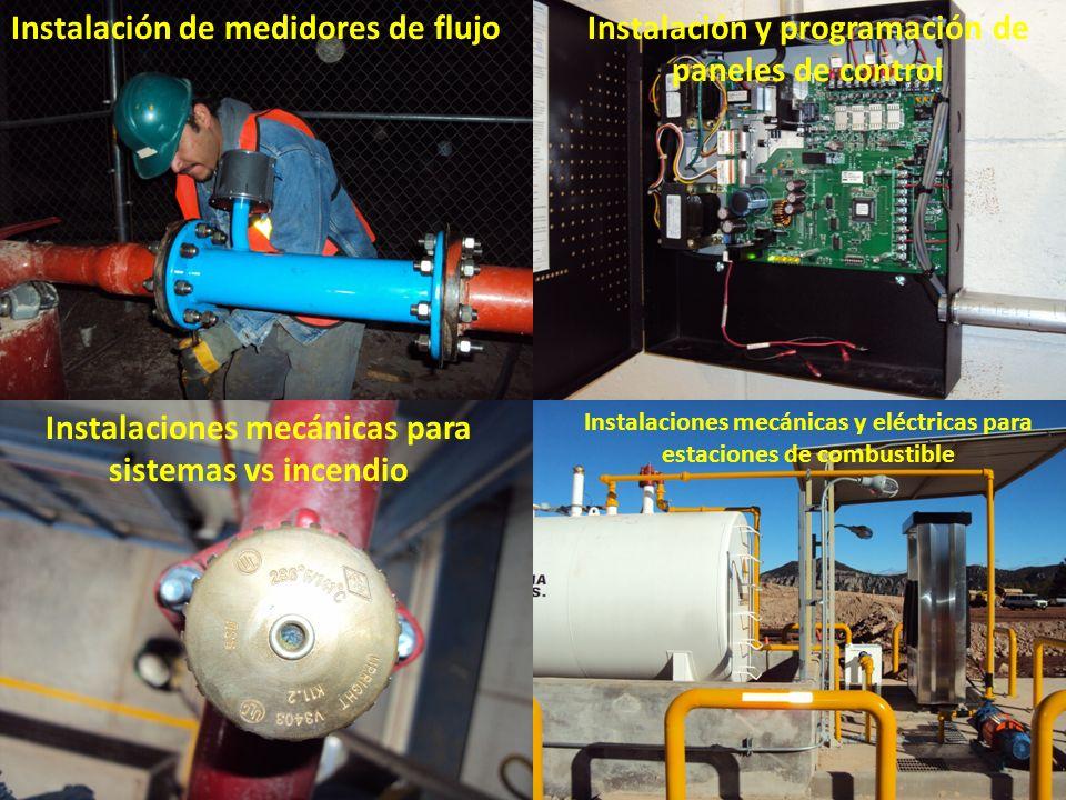 Instalación de medidores de flujo