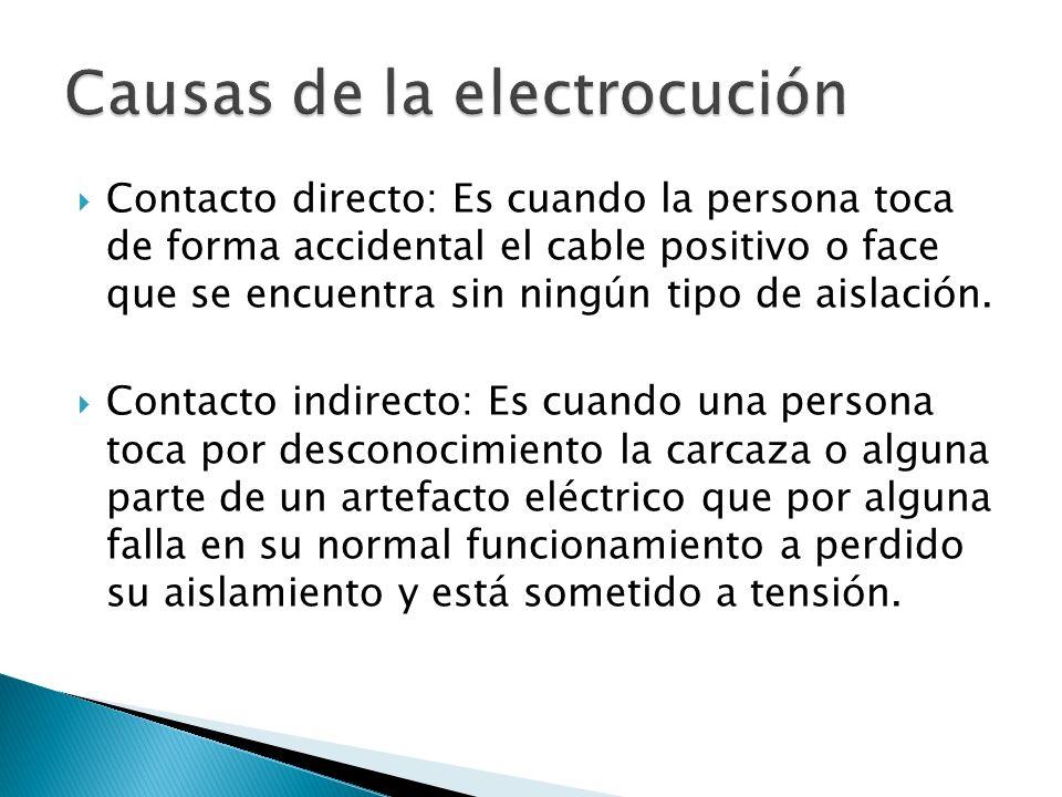 Causas de la electrocución