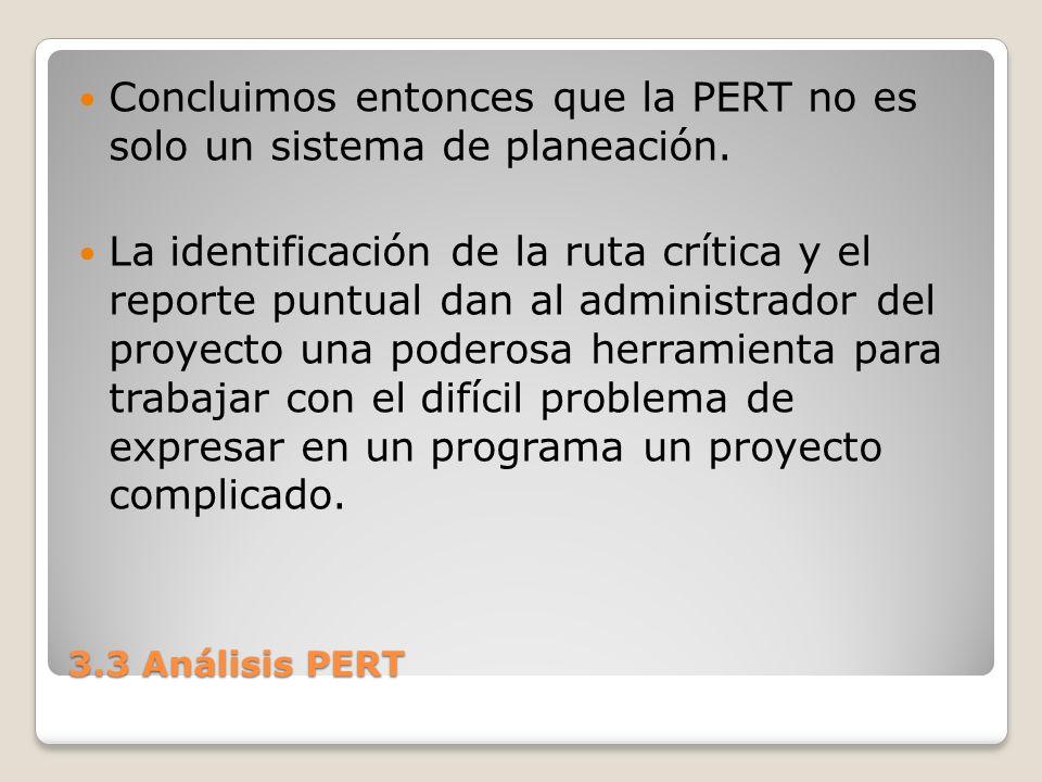 Concluimos entonces que la PERT no es solo un sistema de planeación.