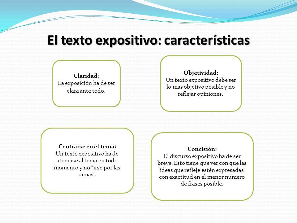 El texto expositivo: características