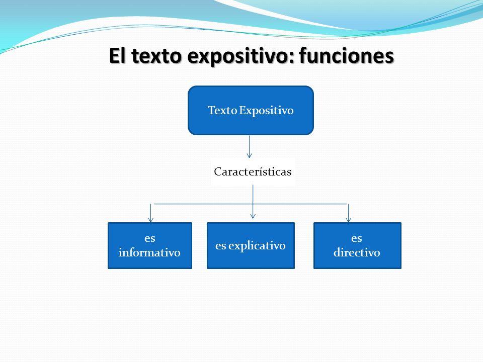 El texto expositivo: funciones