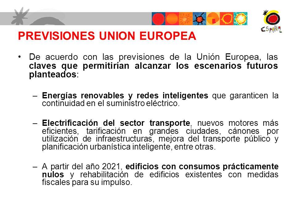 PREVISIONES UNION EUROPEA