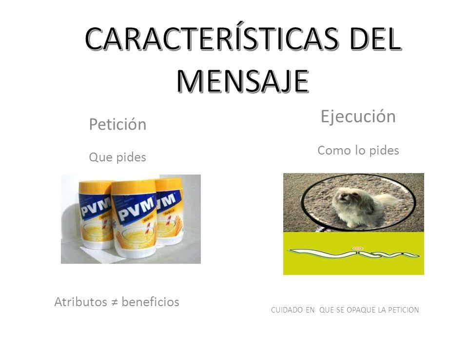 CARACTERÍSTICAS DEL MENSAJE