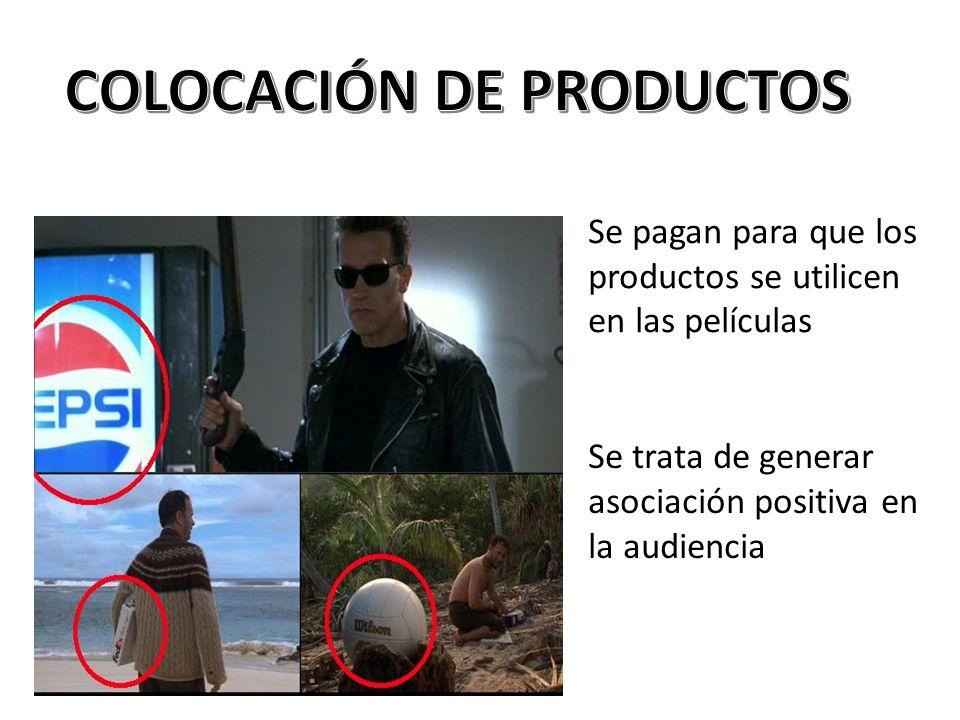 COLOCACIÓN DE PRODUCTOS