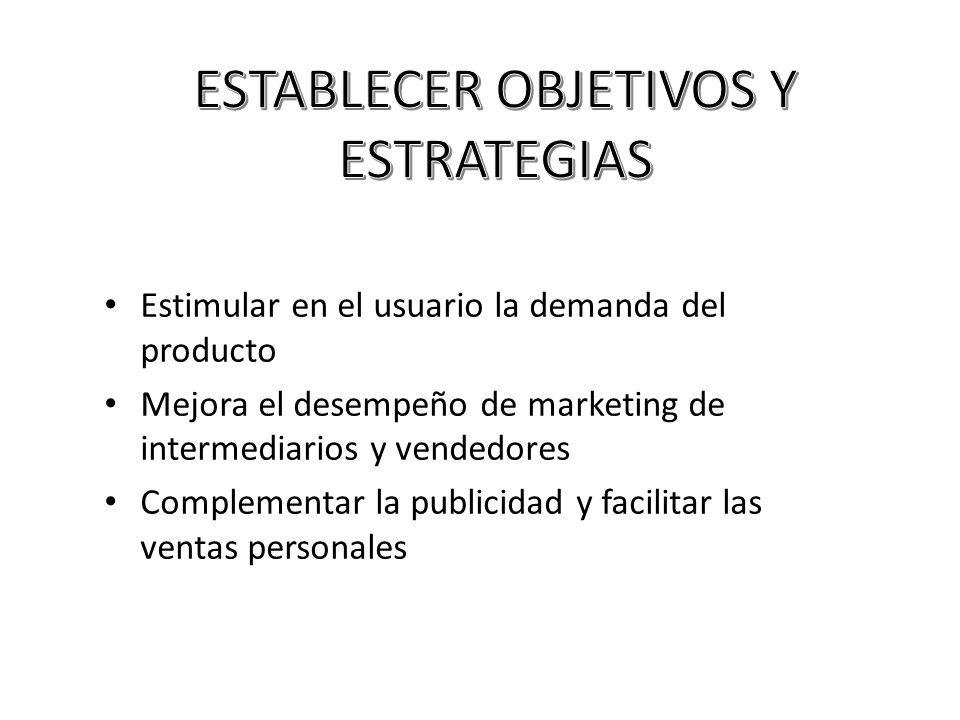 ESTABLECER OBJETIVOS Y ESTRATEGIAS