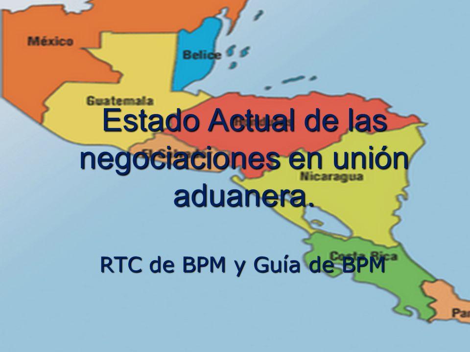 Estado Actual de las negociaciones en unión aduanera.