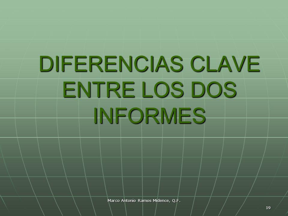 DIFERENCIAS CLAVE ENTRE LOS DOS INFORMES