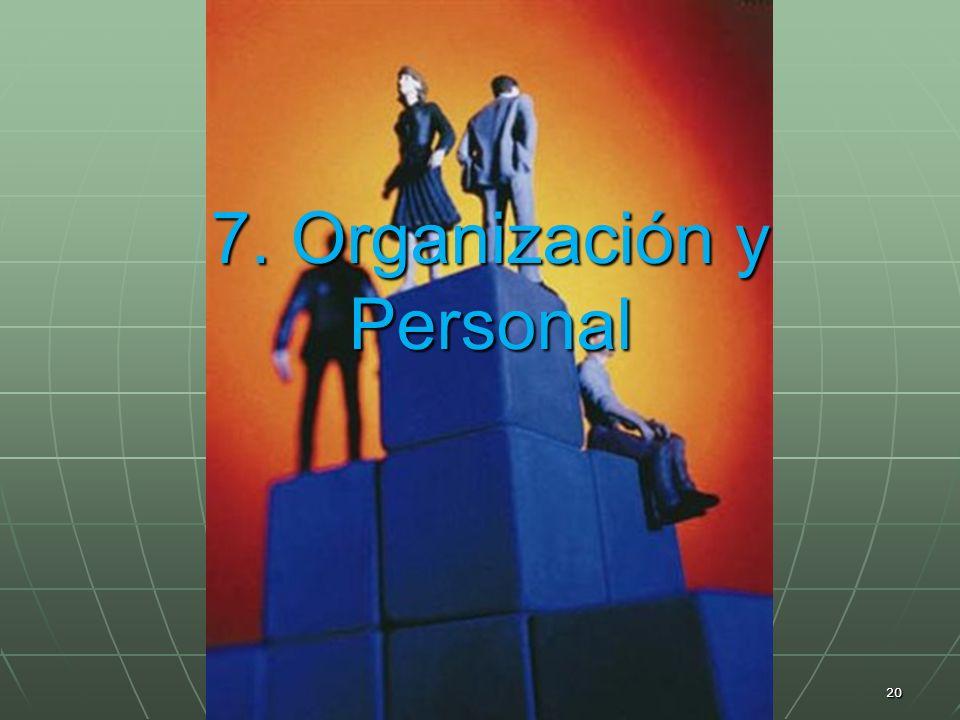 7. Organización y Personal