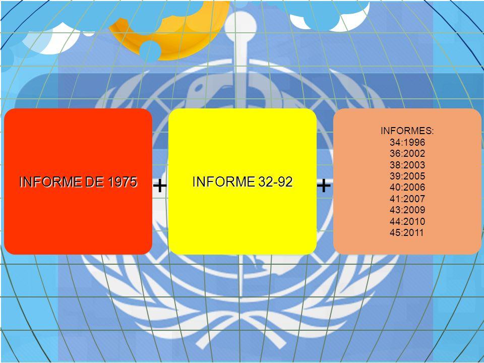 + + INFORME DE 1975 INFORME 32-92 INFORMES: 34:1996 36:2002 38:2003