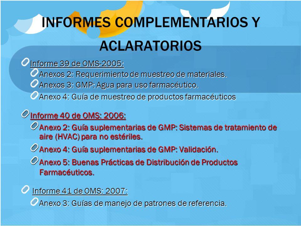 INFORMES COMPLEMENTARIOS Y ACLARATORIOS