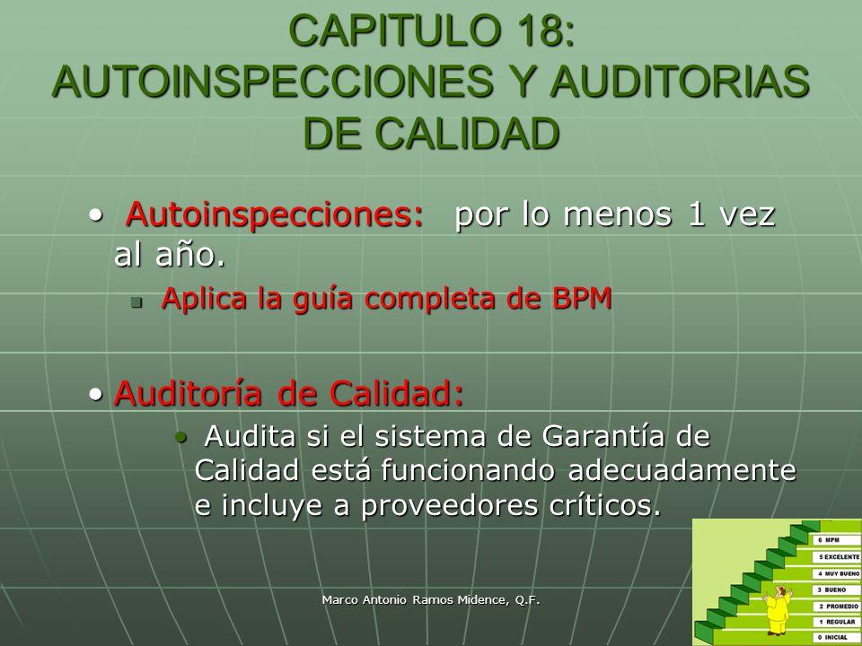 CAPITULO 18: AUTOINSPECCIONES Y AUDITORIAS DE CALIDAD