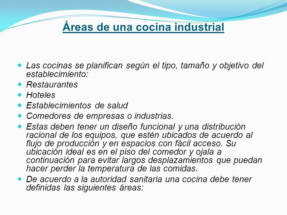 Cocina industrial guia dos ppt video online descargar for Areas de un restaurante
