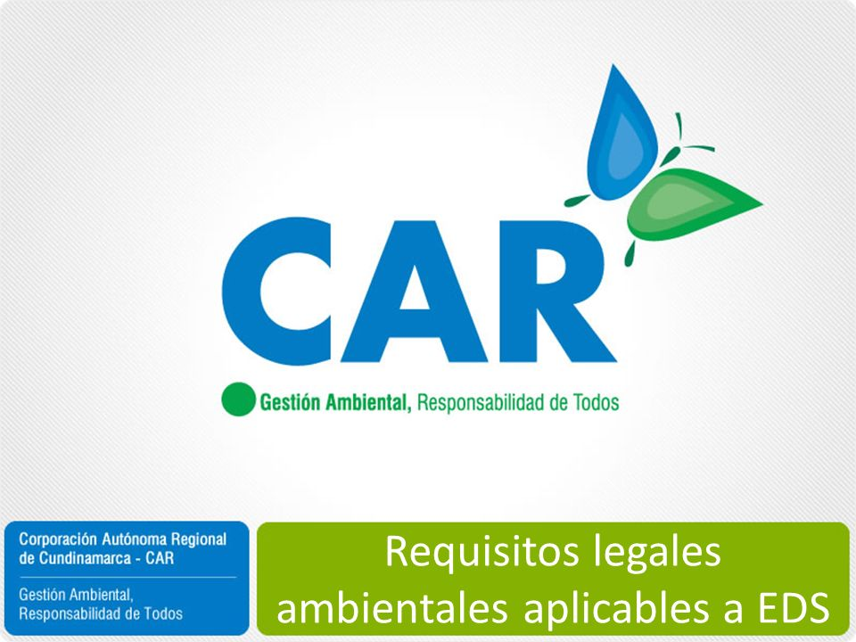 Requisitos legales ambientales aplicables a EDS