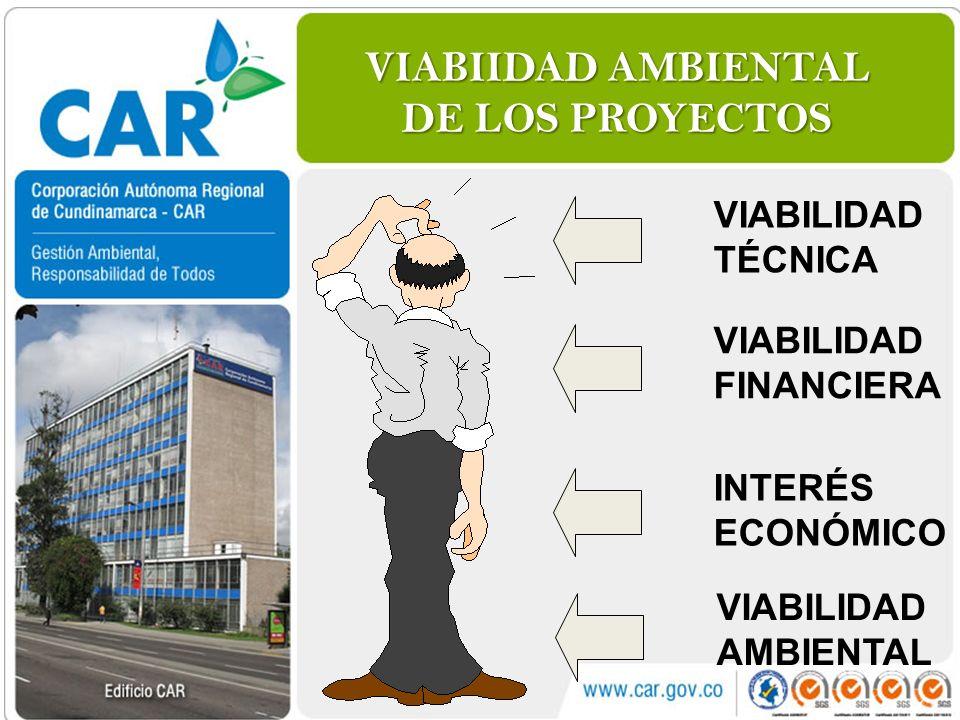 VIABIIDAD AMBIENTAL DE LOS PROYECTOS
