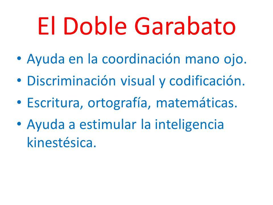 El Doble Garabato Ayuda en la coordinación mano ojo.