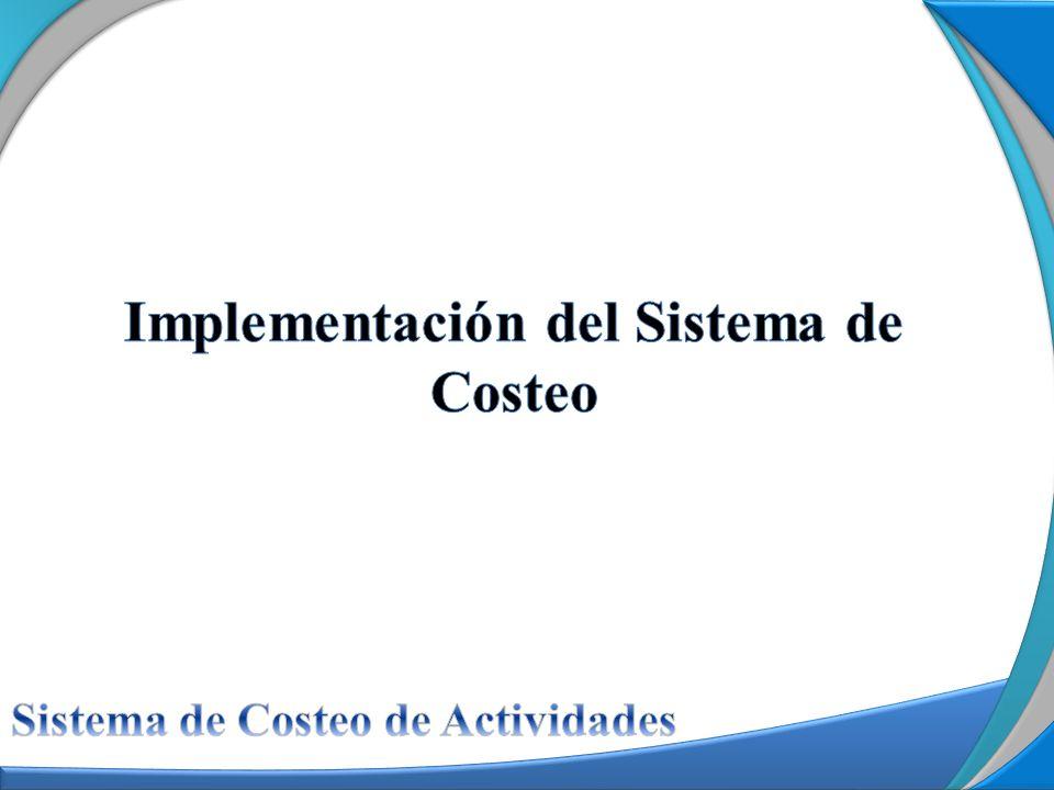 Implementación del Sistema de Costeo
