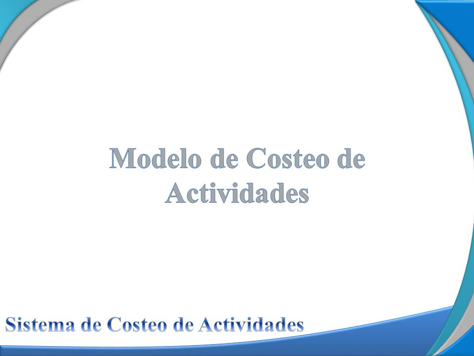 Sistema de Costeo de Actividades