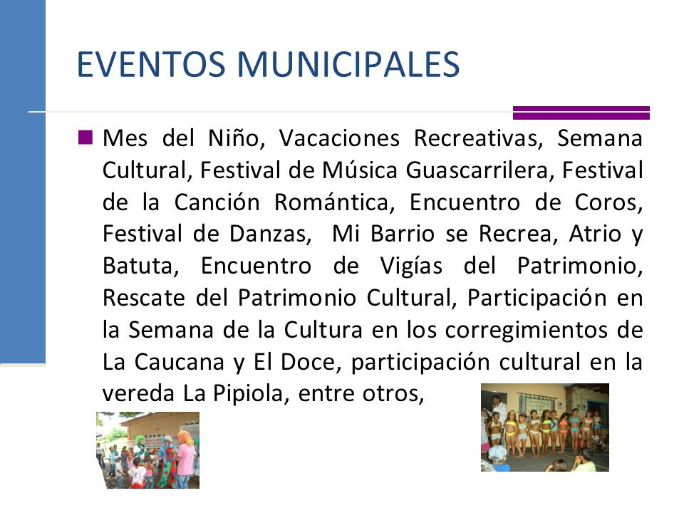 EVENTOS MUNICIPALES