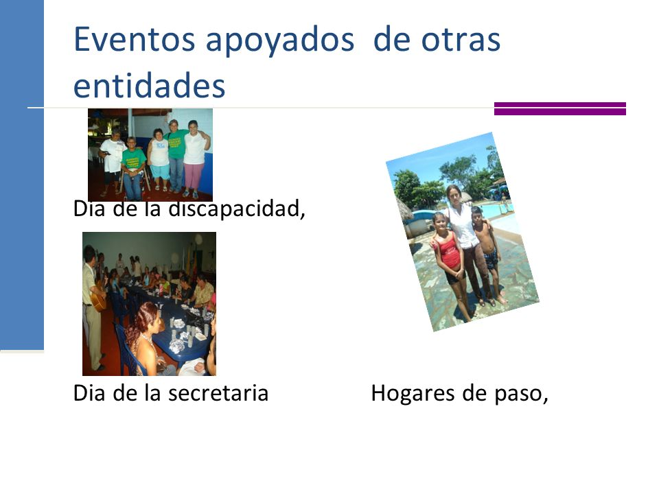 Eventos apoyados de otras entidades