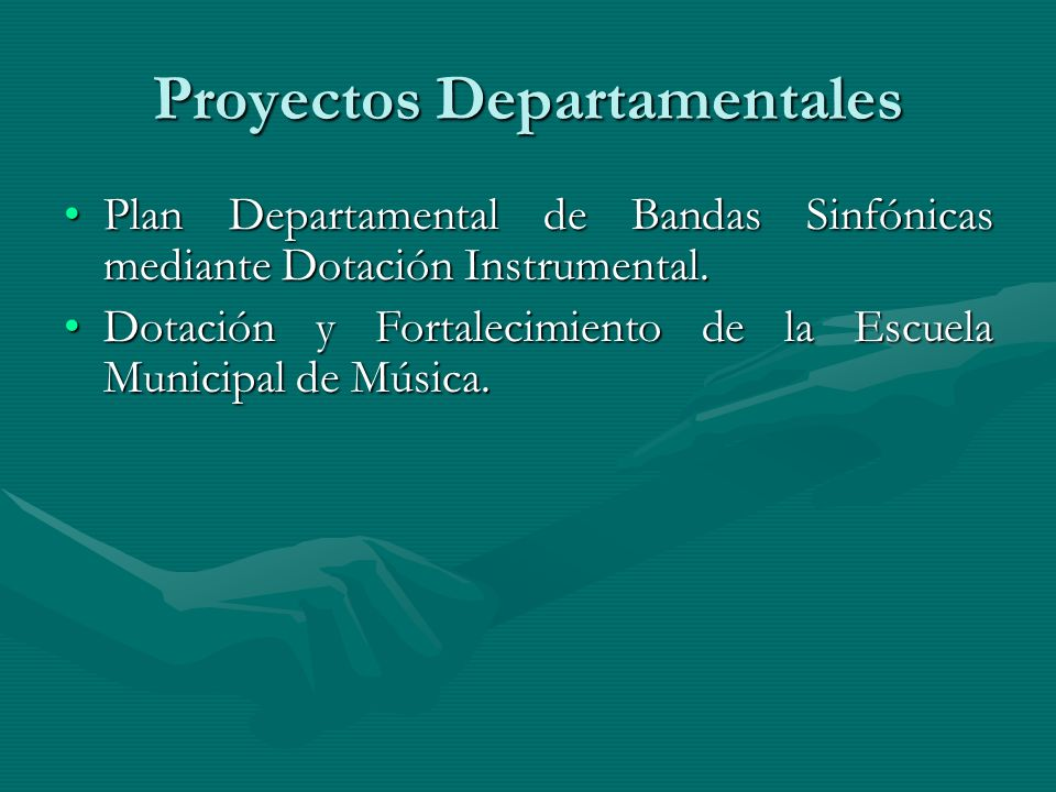 Proyectos Departamentales
