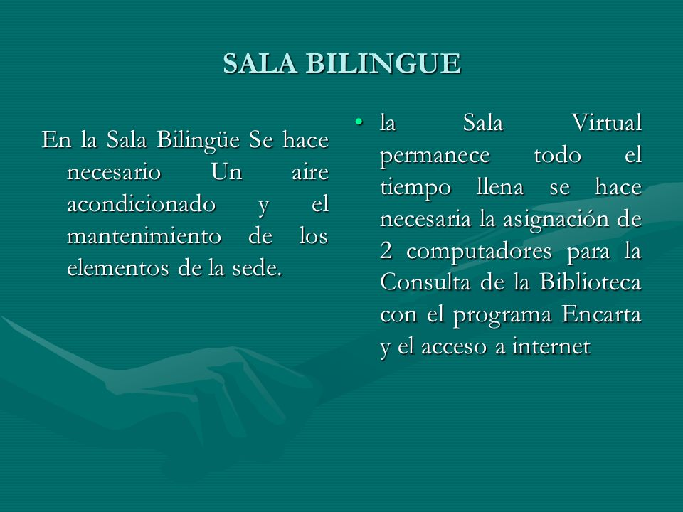 SALA BILINGUE
