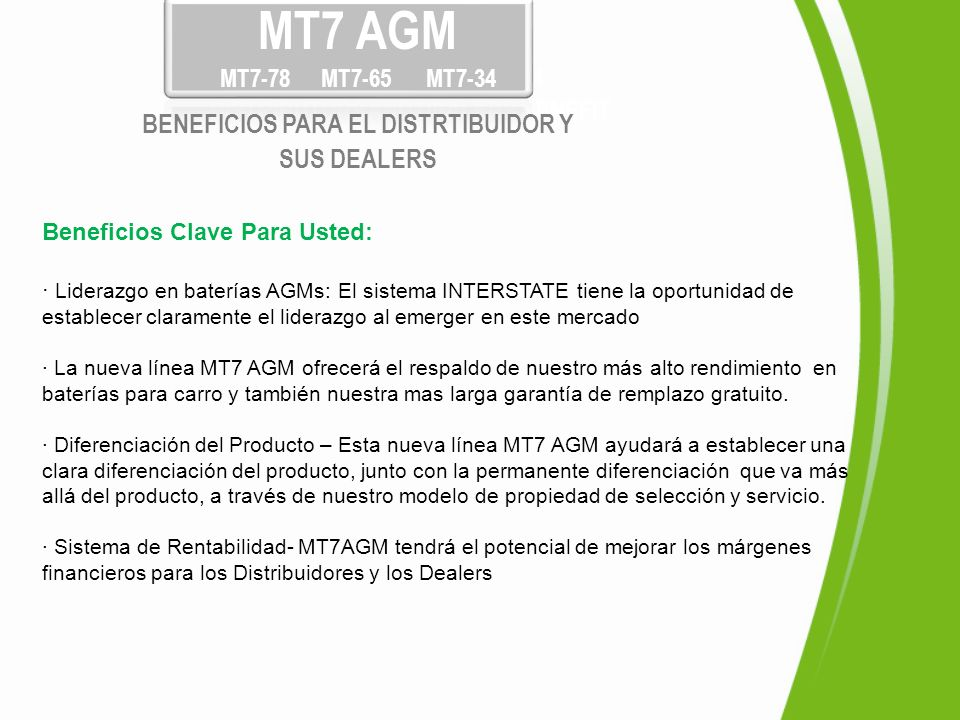 BENEFICIOS PARA EL DISTRTIBUIDOR Y DISTRIBUTORS AND DEALERS BENEFIT