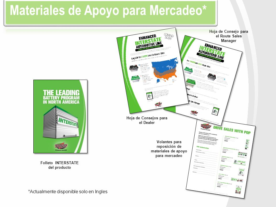 Materiales de Apoyo para Mercadeo*
