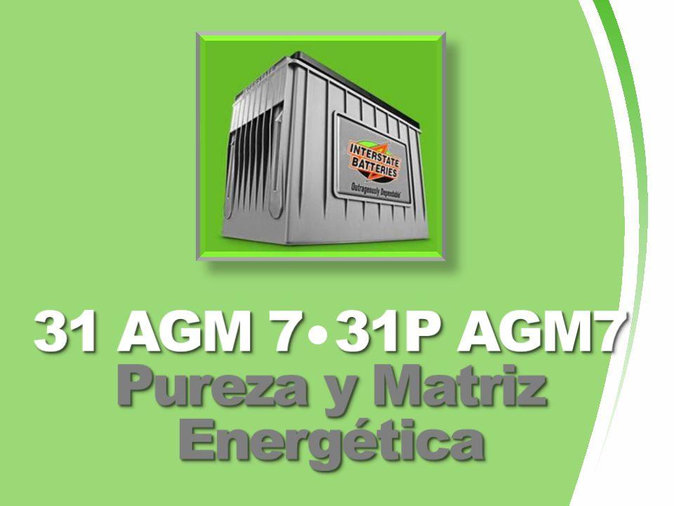 31 AGM 7 31P AGM7 Pureza y Matriz Energética