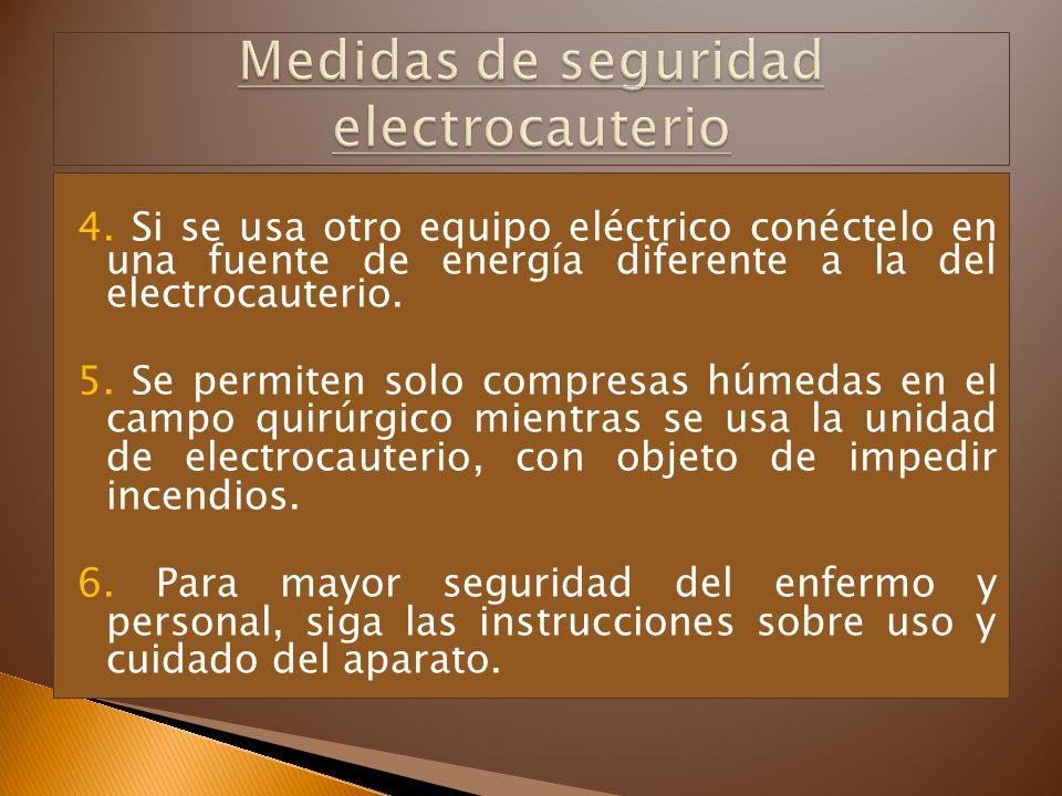 Medidas de seguridad electrocauterio