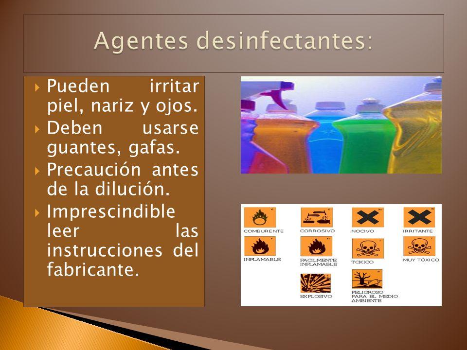 Agentes desinfectantes: