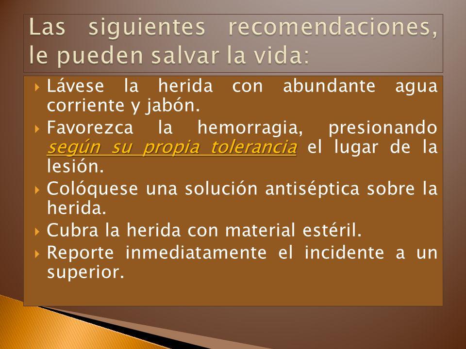 Las siguientes recomendaciones, le pueden salvar la vida: