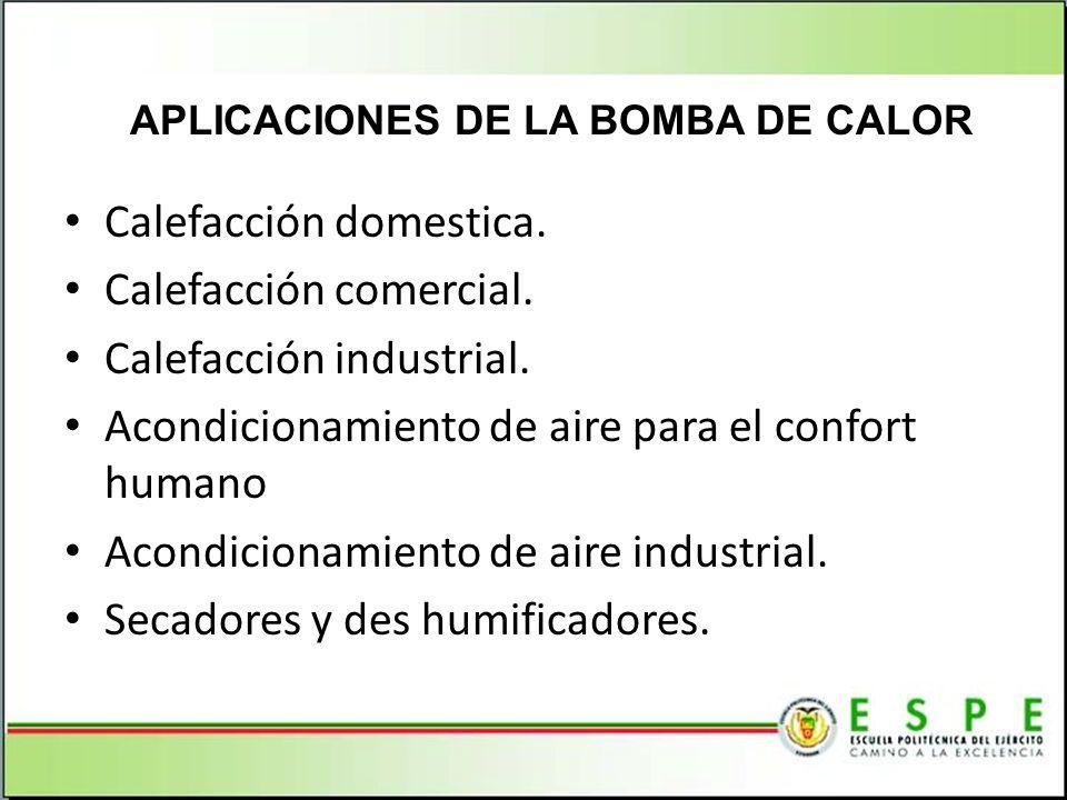 APLICACIONES DE LA BOMBA DE CALOR