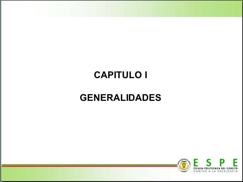 CAPITULO I GENERALIDADES