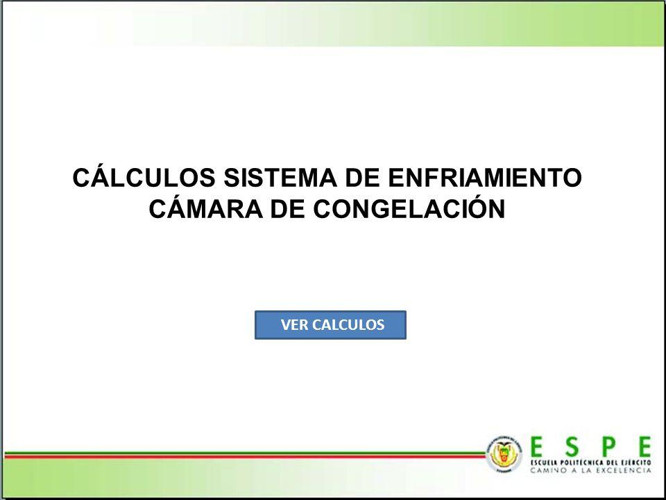 CÁLCULOS SISTEMA DE ENFRIAMIENTO CÁMARA DE CONGELACIÓN