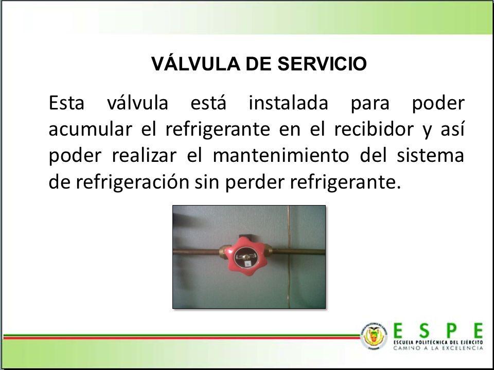 VÁLVULA DE SERVICIO